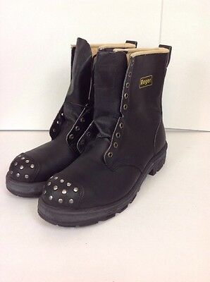 """Royer ""  Safety Boots / Work Boots 8"" SA Approved Size 14 EEE Black - Canada"