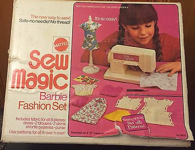 Vintage  Rare Mattel Sew Magic Barbie Fashion Set, 1973 with box, original