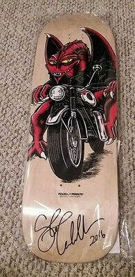 Signed Steve Caballero Powell Peralta Motor Cycle Dragon Skateboard Deck  Coa
