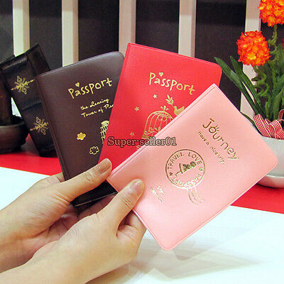 Passport Holder Cover Travel PVC Card/ID Holder Passport Package Case Protector