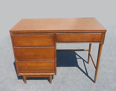 Vintage Danish Mid Century Modern Style Writing DESK 4 Drawers Peg Legs
