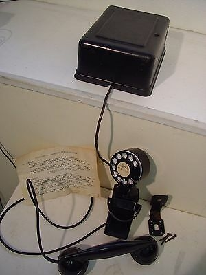 Western Electric 1930's vintage art deco Space Saver 43A Wall Phone / ringer box