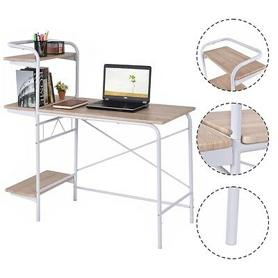 Computer Desk W/3-Tier Book Shelf Home Office Furniture Laptop Writing Desk New