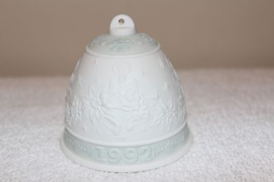 LLadro Christmas 1992 Annual Bell Ornament Excellent Condition