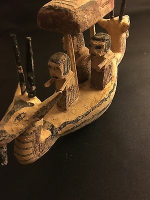 RARE LARGE ANCIENT EGYPTIAN OLD KINGDOM WOODEN BOAT FIGURE c.2500 BC