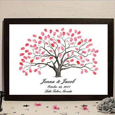 Wedding Fingerprint Tree Painting Signature Guest Book Wedding Party Graduation
