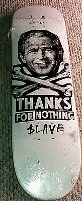 Jamie Thomas signed skateboard deck slave zero