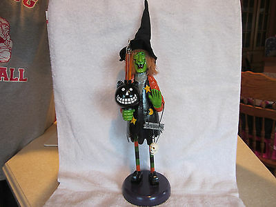 Halloween Witch Decoration Metal Halloween Light up Figurine