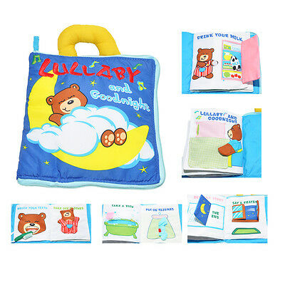 1 Set Baby Soft Bear 3D Cloth Books Educational Cognitive Toys Gift for Newborn