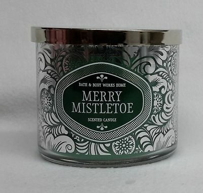 1 Bath & Body Works MERRY MISTLETOE 3-Wick 14.5 oz Scented Candle