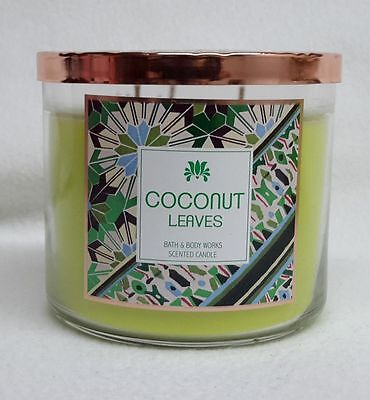 1 Bath & Body Works COCONUT LEAVES 3-Wick 14.5 oz Scented Candle