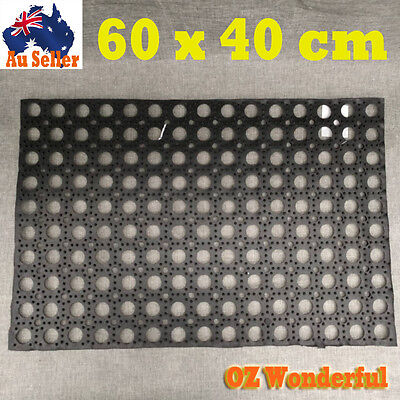 60x40cm Industry Anti Slip Hollow Mat Garage Rubber Flooring Non Slip Honeycomb