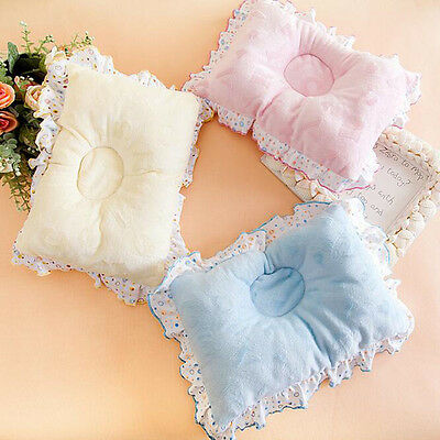 Newborn Infant Baby Safe Support Sleep Pillow Cotton Velvet Pillow Anti Migraine