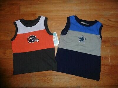 NFL Baby & Toddler Boys Sleeveless t-shirt Tops YOU CHOOSE color & size NEW