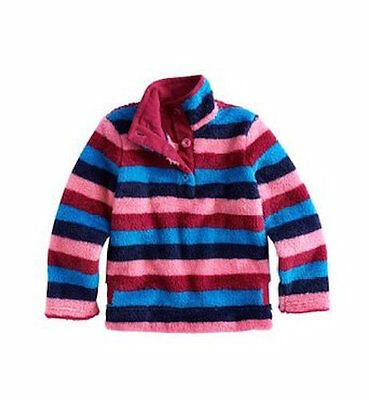NEW Joules Junior Merridie Fleece - Raspberry & Multi Stripe - Many Sizes!