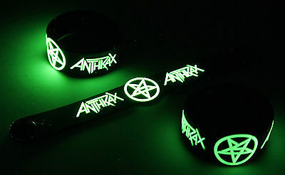 ANTHRAX New! Glow in the Dark Rubber Bracelet Wristband  vg372