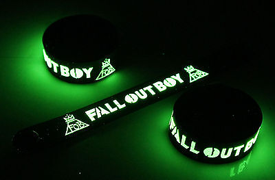 FALL OUT BOY New! Glow in the Dark Rubber Bracelet Wristband  vg379