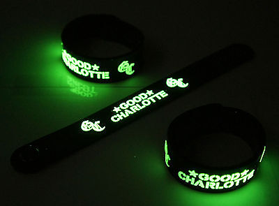 GOOD CHARLOTTE New! Glow in the Dark Rubber Bracelet Wristband  vg388