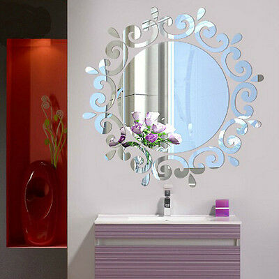 3D Mirror Wall Stickers Wall Decoration DIY Home Decor Living Room Wall Decal