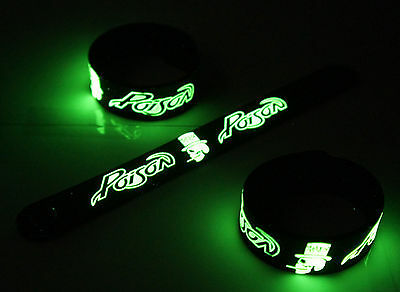 POISON New! Glow in the Dark Rubber Bracelet Wristband  vg387