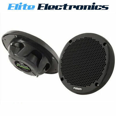 "Fusion Ms-El602B Marine 6"" Shallow Mount  2-Way 150W Speakers Boat Audio Black"