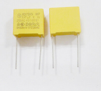 10* New Capacitors Safety 0.47uF 474K 275V AC 280v Pitch 15mm Better Quality K79