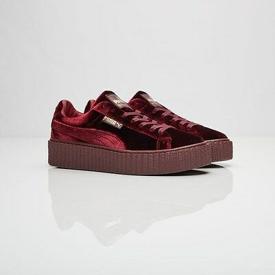 Fenty PUMA by Rihanna Creeper Velvet 364466-02 Burgundy New 100% Authentic