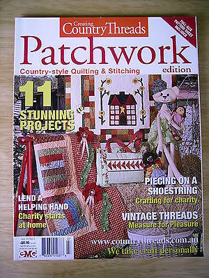 Creating Country Threads Vol 10 #5~Quilts~Embroidery Sampler~Stitcher's Heart...