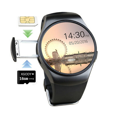 KW18 Bluetooth Smart Watch Orologio Cellulare GSM SIM Per Android Samsung iPhone