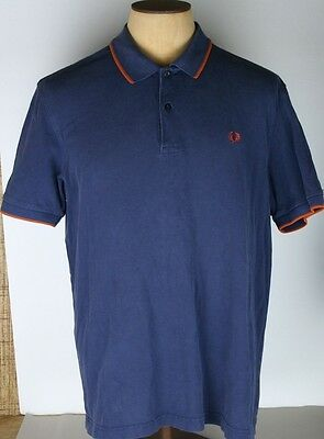 Men's Purple Fred Perry Short Sleeve Cotton Polo Size XL