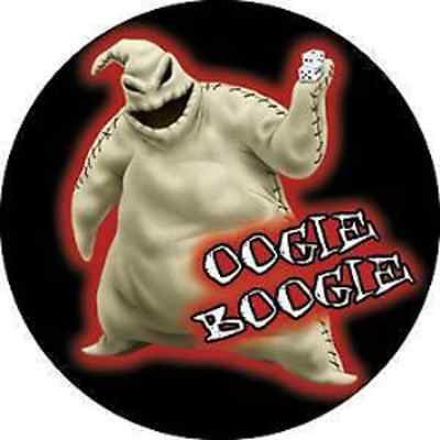NIGHTMARE BEFORE CHRISTMAS 1.5-inch BADGE Button Pin Oogie Boogie OFFICIAL MERCH