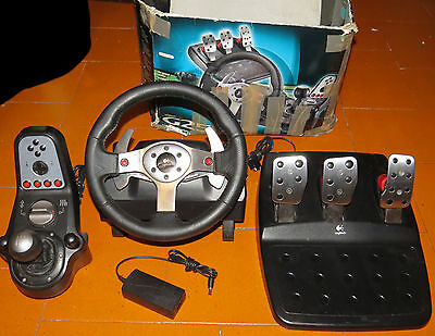 Logitech G25 Volante Console PS3  PC PS2 Force Feedback Working