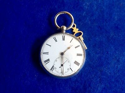 Pocket Watch London Fusse War Presentation 1864 Solid Silver Running Nice
