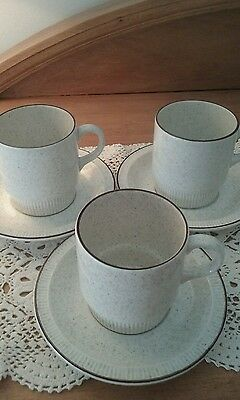 3 x Poole Pottery England Oven to Tableware Cups & Saucers
