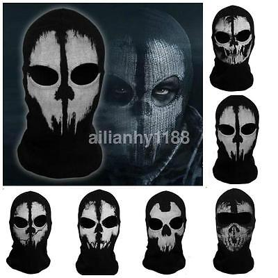 Motorcycle Thermal Balaclava Neck Winter Ski Full Skull Face Mask Hood Cap Cover