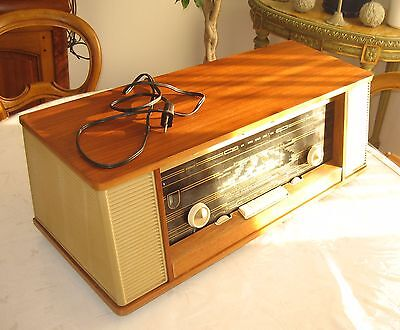 Ancienne Radio TSF Philips lampes Reverbeo capella B7X43A/22 Full Stereo