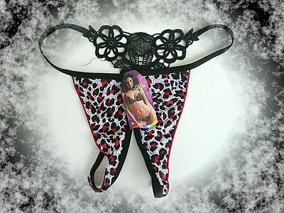 String,Ouvert,Offen,Sexy,Wildcat,Rot,Thong,Tanga,S-L,One Size