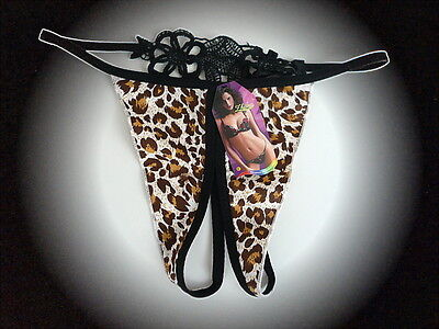 String,Ouvert,Offen,Sexy,Wildcat,Braun,Thong,Tanga,S-L,One Size