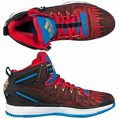 Adult UK11 Adidas D Rose 6 Boost Basketball Shoes Chinese New Year DR11