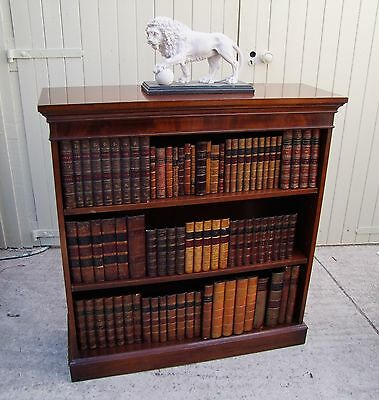 Reproduction Georgian Style Open Bookcase In Mahogany.