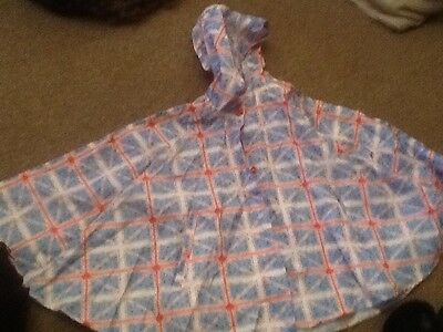 GIRLS HOODED RAIN CAPE AGE 10 by YD New Without Tag