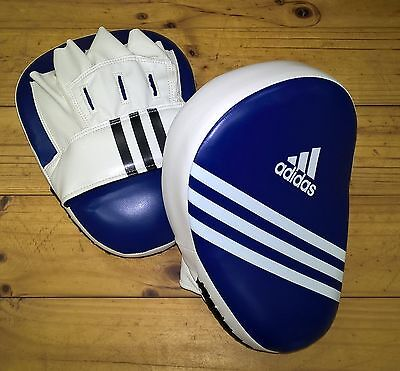 ADIDAS Elite Curved Focus Mitts FROM AUS Practice Boxing MMA Blue Pads Gloves