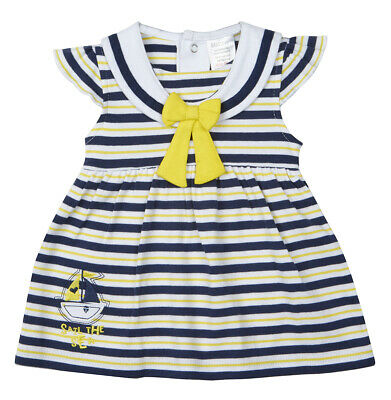 Premature Baby Girl's Nautical Sailor Striped One Piece Occasion Vintage Dress