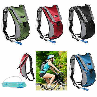 2L Hydration Bladder Bag Hiking Camping Backpack Water Pouch Sports Rucksack UK