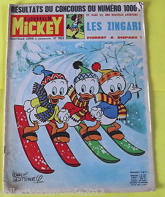 Le Journal De Mickey N°1023  23/1/1972  Les Zingari