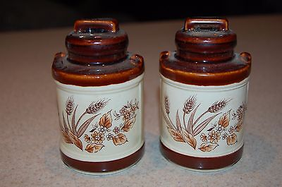 vintage ceramic milk can salt and pepper shakers