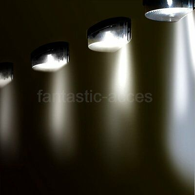 12 Garden Solar Powered Wall Fence Stair LED Lights Outdoor Lighting Superbright