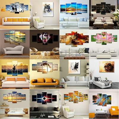 5Pcs Modern Art Oil Painting Print Canvas Picture Home Wall Room Decor NO fram