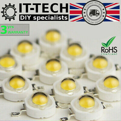 1W 3W High Power Chip LED Emitting Diode Lamp Bead Bulb PCB Full Spectrum Light