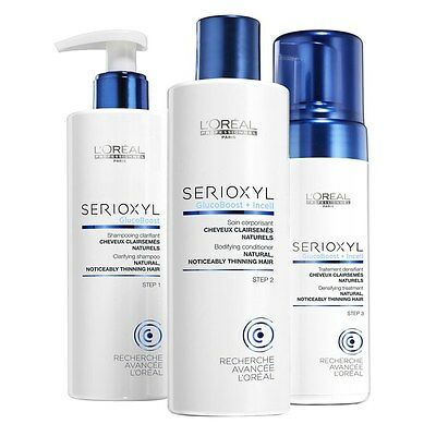 Loreal Serioxyl Fuller Hair 1 Anti-Thinning Programme Shampoo Conditioner Mousse